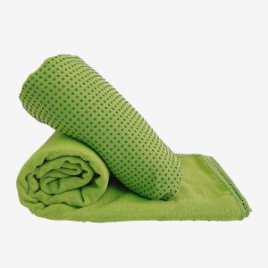NON-SLIP YOGA TOWEL – GREEN