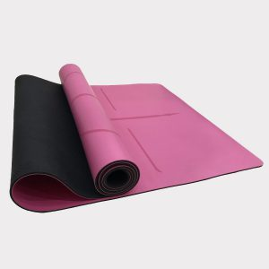 NATURAL RUBBER YOGA MAT WITH PU SURFACE (WITH CARRYING BAG) – PINK COLOR