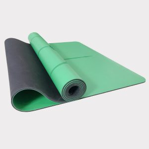 NATURAL RUBBER YOGA MAT WITH PU SURFACE (WITH CARRYING BAG) – GREEN COLOR