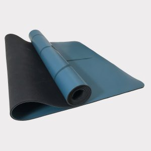 NATURAL RUBBER YOGA MAT WITH PU SURFACE (WITH CARRYING BAG) – BLUE COLOR
