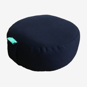 ROUND MEDITATION CUSHION – DARK BLUE