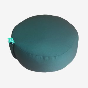 ROUND MEDITATION CUSHION – MOSS GREEN