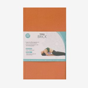 YOGA BLOCK – EVA FOAM (ORANGE-BROWN COLOR)