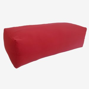 YOGA BOLSTER RECTANGULAR MEDITATION PILLOW – RED