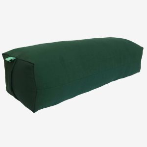 YOGA BOLSTER RECTANGULAR MEDITATION PILLOW – GREEN