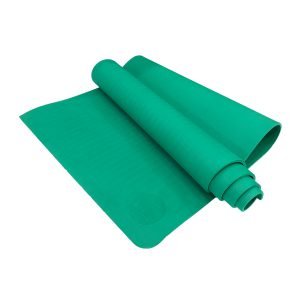 TPE PITTA YOGA MAT –  1 LAYER 6MM – GREEN