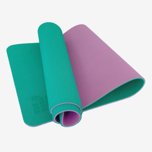 TPE PITTA YOGA MAT –  2 LAYER 6MM – GREEN (WITH CARRYING BAG 120,000VNĐ)