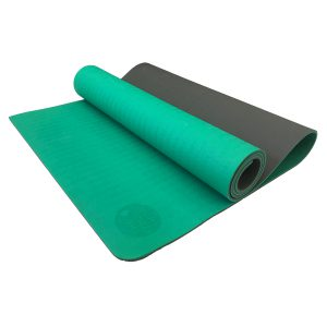 TPE PITTA YOGA MAT –  2 LAYER 6MM – GREEN