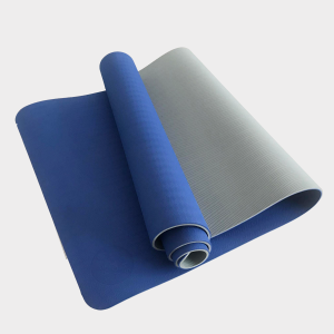 TPE PITTA YOGA MAT –  2 LAYER 8MM – BLUE
