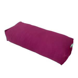 YOGA BOLSTER RECTANGULAR MEDITATION PILLOW – PURPLE