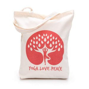 CANVAS TOE BAG – YOGA.LOVE.PEACE